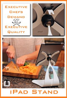 Executive chefs demand executive quality. Using quality tools with your cooking hobby or profession will streamline your cooking experience. The Elite Series iPad stands from Thought Out Company will bring you that experience.
