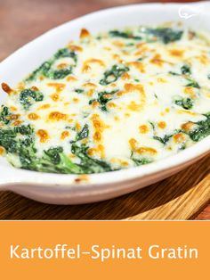 Super fast, vegetarian and healthy: the recipe for a delicious potato spinach gratin. spinachgratin Super fast, vegetarian and healthy: the recipe for a delicious potato spinach gratin. Easy Healthy Recipes, Healthy Snacks, Vegetarian Recipes, Healthy Eating, Dinner Healthy, Salad Recipes, Snack Recipes, Dinner Recipes, Easter Recipes