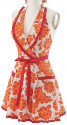 '50s Housewife Apron ~ Orange Tart ... #wedding wishlist #bridal shower gift