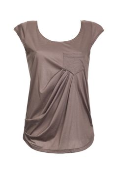 Brown Shirt, 46$. An airy, soft, enfolding blouse with rounded V-neck, cheeky breast pocket, and rich fabric panels at the abdomen. Fabric: Tissue with foil #BrownShirt #SummerShirt #WomenCloths https://www.etsy.com/listing/151336850/women-shirt-summer-shirt-light-brown-top?ref=shop_home_active http://assafpelleg.storenvy.com/products/1761160-women-shirt-summer-shirt-light-brown-top-short-sleeve-light-brown-top