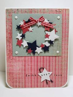 Recycled Wire Star Wreath by Miss Minx - Cards and Paper Crafts at Splitcoaststampers