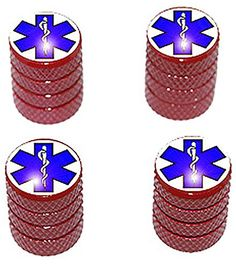 "(4 Count) Cool and Custom ""Diamond Etching Star of Life Top with Easy Grip Texture"" Tire Wheel Rim Air Valve Stem Dust Cap Seal Made of Genuine Anodized Aluminum Metal {Red and Blue Colors} mySimple Products http://www.amazon.com/dp/B013J3L6ZW/ref=cm_sw_r_pi_dp_5AAGwb1B40BVC"