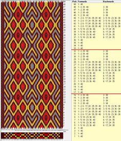 40 tarjetas, 4 colores, repite cada 16 movimientos // sed_636 diseñado en GTT༺❁