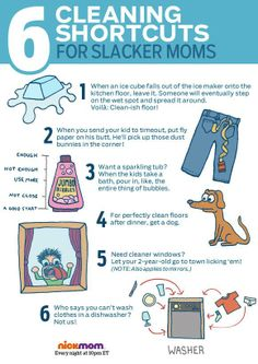 6 Cleaning shortcuts for slacker moms