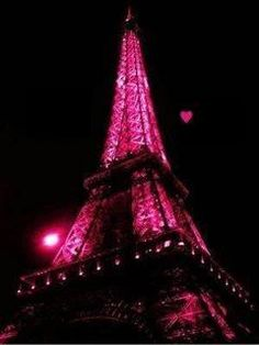 Pink Eiffel tower....it doesn't get any better than this!!