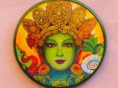 GREEN TARA Face Talisman Amulet Witch by EclecticEnchantments, $4.00
