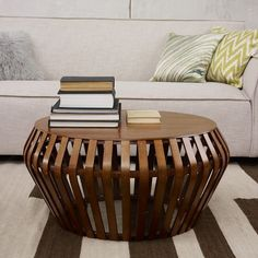 bentwood coffee table-- no hard edges so kid friendly and stylish with a touch of organic.