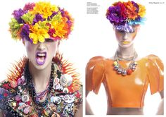 """""""Chroma"""" Beauty Editorial in Factice Magazine, Photography by Lindsay Adler"""