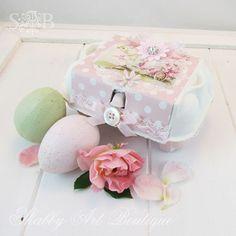 decorated egg carton