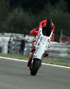 Max Biaggi's wheelie