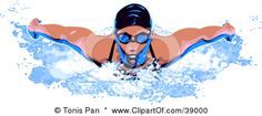 Professional Female Swimmer Wearing A Swim Cap And Goggles Posters, Art Prints