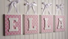 Name Blocks Nursery Decor Wooden Wall Hanging by fabbdesigns, $68.00