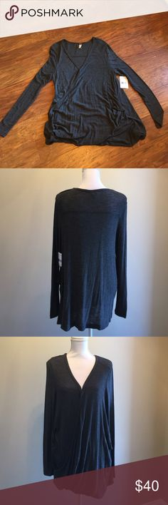Free People top Charcoal grey top by Free People Free People Tops Blouses