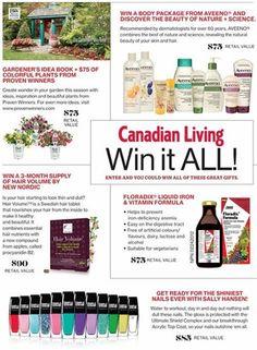 Win it al November - canadianliving