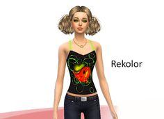 Sims 4- rekolory: Bluzka