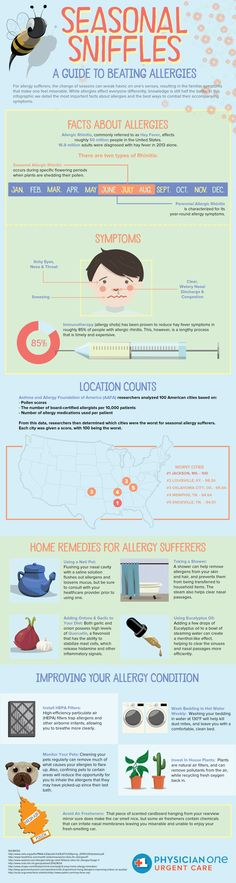 Suffering from seasonal allergies? This infographic from PhysicianOne Urgent Care is your complete guide to beating them! Wellness Fitness, Health And Wellness, Health Tips, Health Care, Home Remedies For Allergies, Allergy Remedies, Breastfeeding Nutrition, Nasal Congestion, Seasonal Allergies