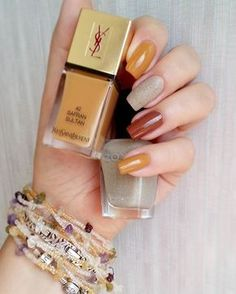 It totally works both ways Fall palette? It totally works both ways Love Nails, Pretty Nails, Fun Nails, Autumn Nails, Winter Nails, Nails 2017, Fall Nail Designs, Super Nails, Nail Manicure