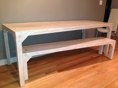Modern american farmhouse table with bench.. $1,200.00, via Etsy.