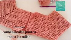 149. Cómo calcular los puntos para un canesú a crochet | CTejidas [Crochet y Dos Agujas] | Bloglovin' Crochet Shirt, Crochet Baby, Crochet Bikini, Knit Crochet, Crochet Flower Tutorial, Crochet Flowers, Crochet Stitches Patterns, Baby Knitting Patterns, Cardigan Rosa