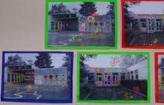 à faire avec une photo de l'école: Hundertwasser