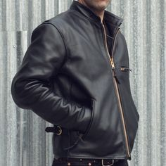 Lost Worlds Ryder Horsehide Jacket Black Leather Motorcycle Jacket, Men's Leather Jacket, Moto Jacket, Motorcycle Jackets, Motorcycle Gear, Leather Jackets, Dapper Suits, Bespoke Tailoring, Mens Gloves