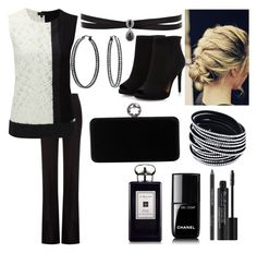 """""""black & white"""" by annabethjames on Polyvore featuring Alexander McQueen, Joseph, Fallon, Bling Jewelry, Chanel, Rodial, Swarovski and Jo Malone"""