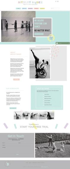 A fun, vibrant and animated website design for a dance company for children and young adults. Website Design Inspiration, Website Design Layout, Layout Design, Entrepreneur Website, Design Girl, Dance Company, Young Adults, Business Website, Cool Websites