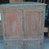 Found this old primitive cupboard in a shed in central Illinois - Check out the old sign on the front cabinet door - This thing is solid as a rock