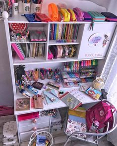 You can get popular stationery such as Zebra Mildliner highlighters, 'Mildliner'. You can get popular stationery such as Zebra Mildliner highlighters, 'Mildliner' style highlighters, milk color Sara Study Room Decor, Cute Room Decor, Bedroom Decor, Study Rooms, Zebra Mildliner, Craft Closet Organization, Stationary Organization, Stationary Supplies, School Supplies Organization