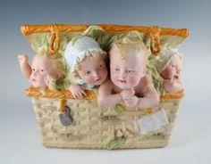 Amazing-Antique-19c-Rare-German-Bisque-Porcelain-Quadruplet-Piano-Baby-Box