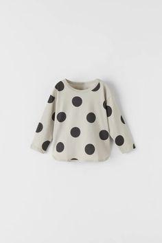 POLKA-DOT TOP   ZARA United States Polka Dot T Shirts, Polka Dot Top, Baby Girl Tops, Baby Girls, Girl Closet, Zara Fashion, Zara United States, Baby Wearing, Boy Outfits