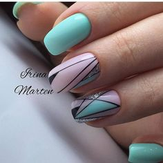 Nail art Christmas - the festive spirit on the nails. Over 70 creative ideas and tutorials - My Nails Colorful Nail Designs, Beautiful Nail Designs, Nail Art Designs, Manicure Nail Designs, Nail Manicure, Nail Polish, Cute Nails, Pretty Nails, My Nails