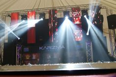 DJ Booth / Led Spilt Screen / Beam Lighting