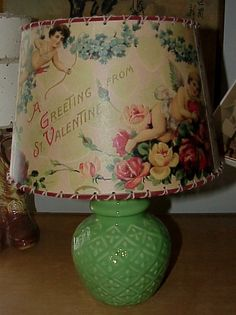 Vintage Valentine Lamp Shade by shadyplace on Etsy