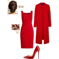 A fashion look from March 2017 featuring Versace dresses, Winser London coats and Christian Louboutin pumps. Browse and shop related looks.
