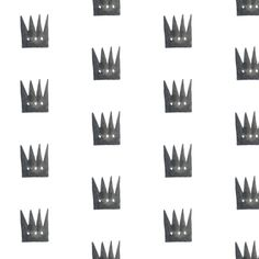Watercolor crowns on white fabric by trizzuto on Spoonflower - custom fabric