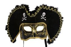 RedSkyTrader - Male Masquerade Pirate Mask - Black Venetian Style - One Size fits Most - Black RedSkyTrader, http://www.amazon.com/dp/B004364S50/ref=cm_sw_r_pi_dp_xZtOqb1SH0PCT