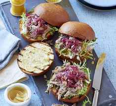 These fancy and flavourful burgers are sure to impress - pile up Dijon mustard, onion marmalade and shredded duck on a brioche bun
