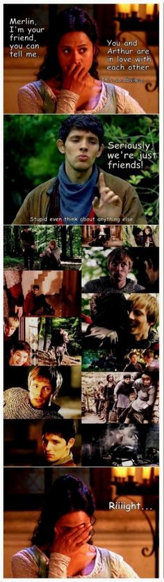 I just can't but ship Merthur