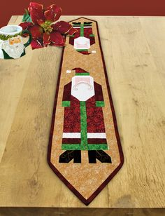 """St. Nick Runner"" by Susan Clark (from The Quilter Quilting for Christmas Holiday 2012 issue)"
