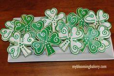 St. Patrick's Shamrock Sugar Cookies #ad #etsy