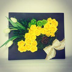 Cuadro de flores naturales