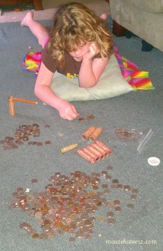 Rolling coins at home... before coin star