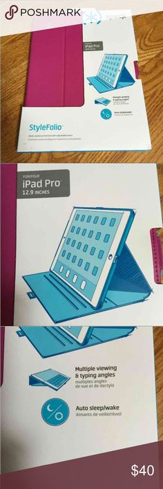 Pink Speck iPad Pro 12.9 inches Case Cover NEW Brand new with auto shutoff.  Hard case.  Multiple viewing angles.  Package has a little wear, but Case is perfect. speck Accessories Tablet Cases