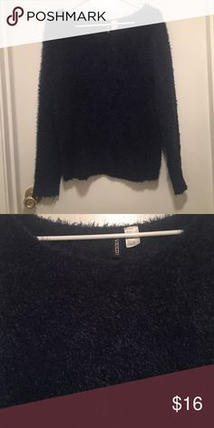 Fuzzy H&M navy blue sweater! Fuzzy H&M navy blue sweater! H&M Sweaters