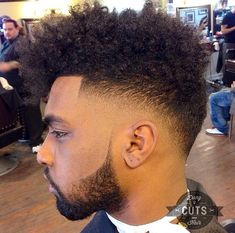 Fade Taper Haircut Black Men