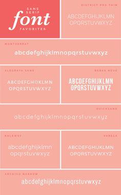 Favorite Sans-Serif Designer Fonts - Elle & Company