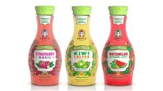 Agua frescas from Califia Farms are poured into curvy bottles, with labels reflecting the products' Mexican heritage.