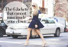THE 6 JACKETS THAT CANNOT MISS INSIDE YOUR CLOSET: www.ebay.com/gds/6-Jackets-That-Cannot-Miss-Inside-Your-Closet-/10000000206139403/g.html?roken2=ti.pQ2FtaWxsYSBTZW50dXRp