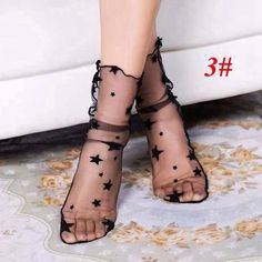 New 7 Styles fashion Sexy Silk Heap heap Socks Soft Elasticity Black Fishnet Socks For Women Girls Fishnet Socks, Lace Socks, Ankle Socks, Mesh Socks, Glitter Shorts, Nylons, Black Fishnets, Moda Casual, Short Socks